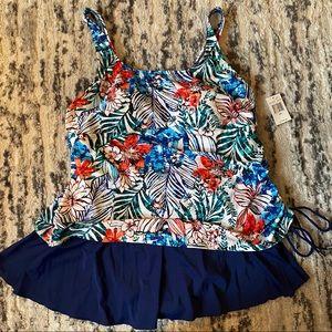 Women's Plus Size Swim Dress Sz 22